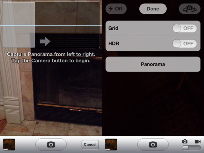 iOS Panorama Mode Can Be Activated Without Jailbreaking