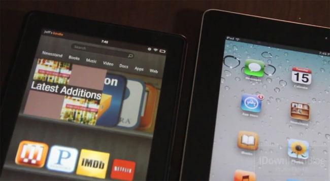 Amazon Kinde Fire vs iPad 2