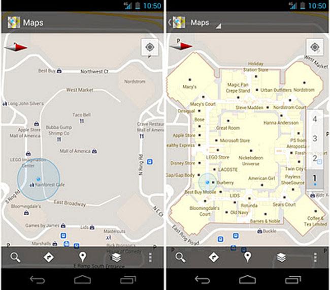 Google Maps Indoors