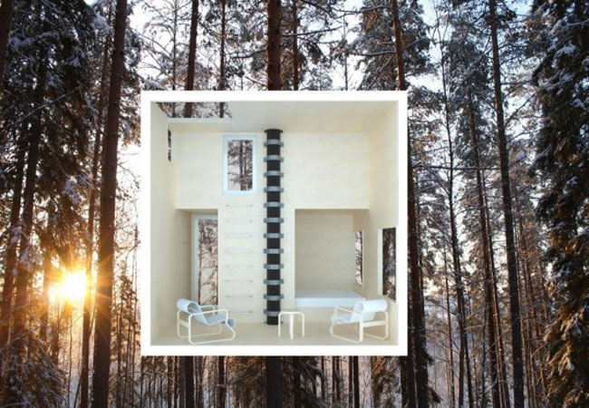 mirror cube treehouse