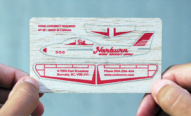 Model Aircraft Business Card