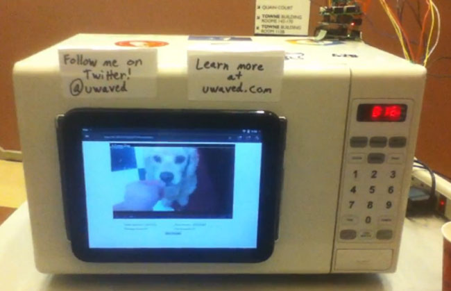 uWave Microwave Plays YouTube Videos Whilst Cooking Your Food