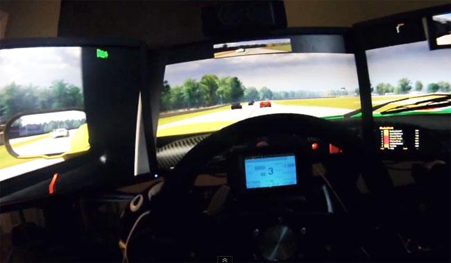 Five Screen Racing Simulator Is Amazing