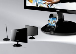 AOC's iPhone Dock Display, Plays Media Directly From Your iOS Device