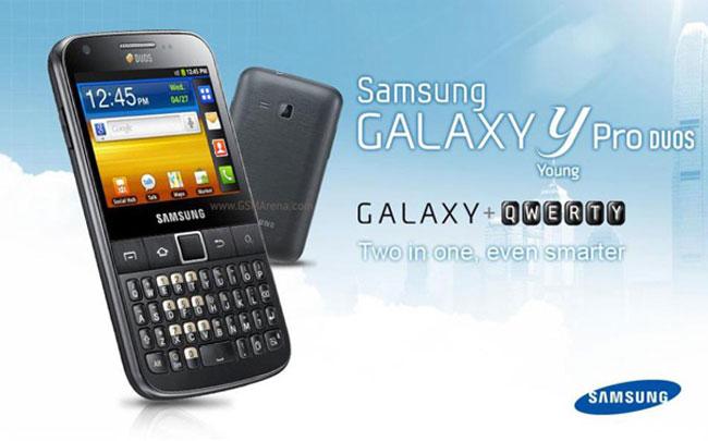 Dual SIM Galaxy Y Pro