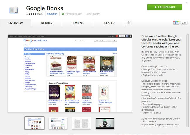 Google eBooks Offline Chrome