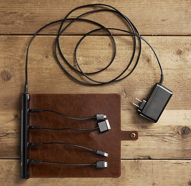 Roll-Up Leather Charger
