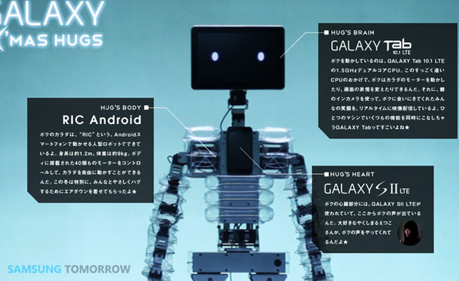 Samsung Creates Robot Using Galaxy Tab 10.1 And Galaxy S II (Video)