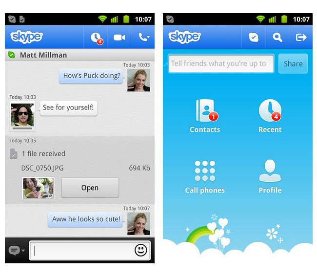skype application for android phone