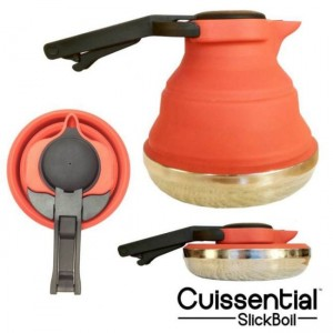 Silicone Cuissential SlickBoil Tea Kettle Lets You Enjoy Tea Anywhere