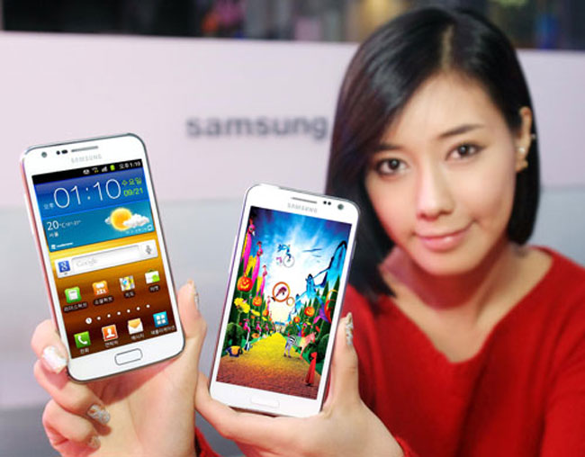 White Samsung Galaxy S II HD LTE