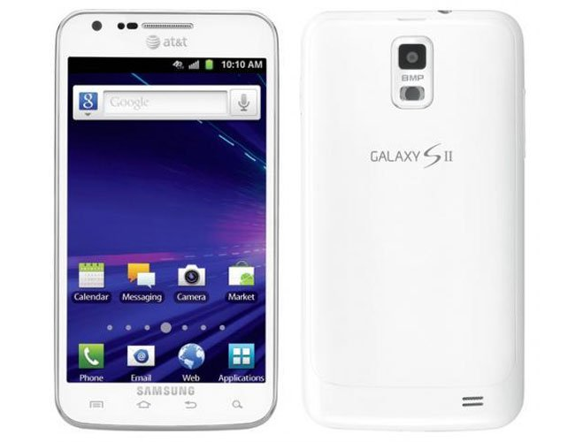 White Samsung Galaxy S II Skyrocket
