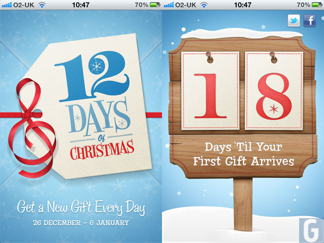 Apple's 12 Days Of Christmas App Launched