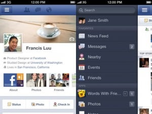 Facebook iPhone App Updated, Adds Timeline And More