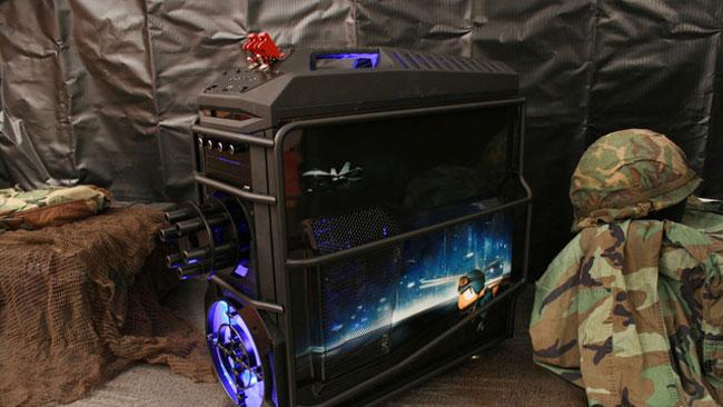 Awesome Battlefield 3 Chaingun And Drinks Fridge Case Mod