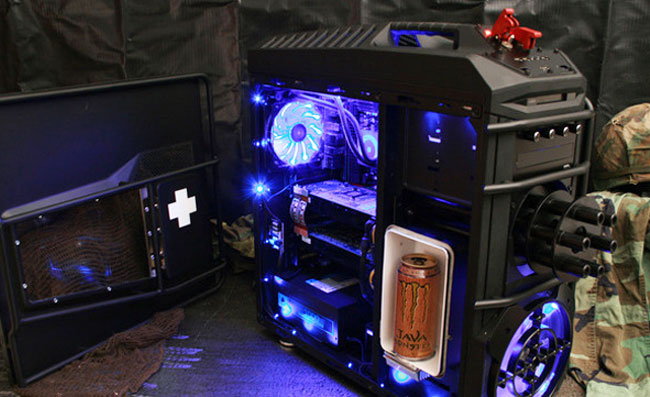 Awesome Battlefield 3 Chaingun And Drinks Fridge Case Mod