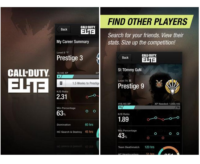 Call Of Duty Elite Companion App Android