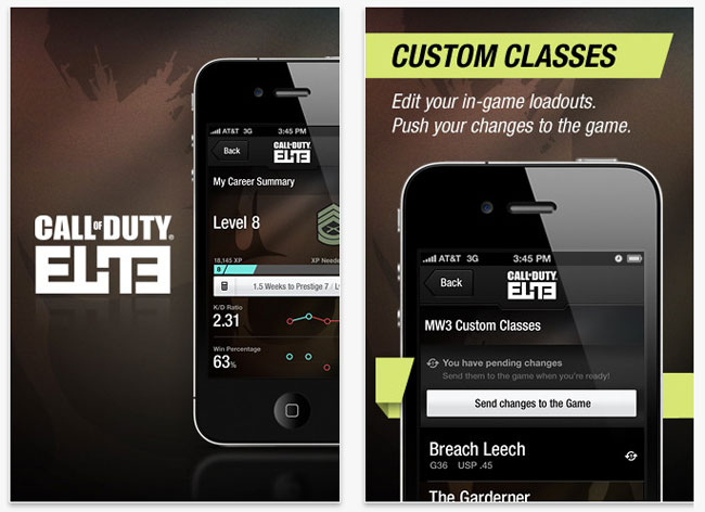 Call of Duty Elite iOS App