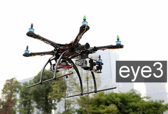 Eye3 Affordable Hexacopter R/C Camera Drone Uneviled (video) on crane camera, star camera, minimalist camera, quadcopter camera, clone camera, scorpion camera, moon camera, bear camera, fox camera, one camera, world camera, uav camera, lo-fi camera, real life camera, helicopter camera, probe camera, space camera, first person view camera, heat camera, white screen camera,