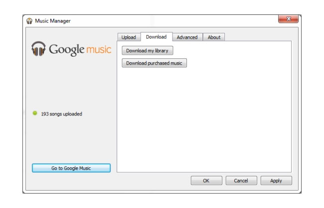 Google Music Screen
