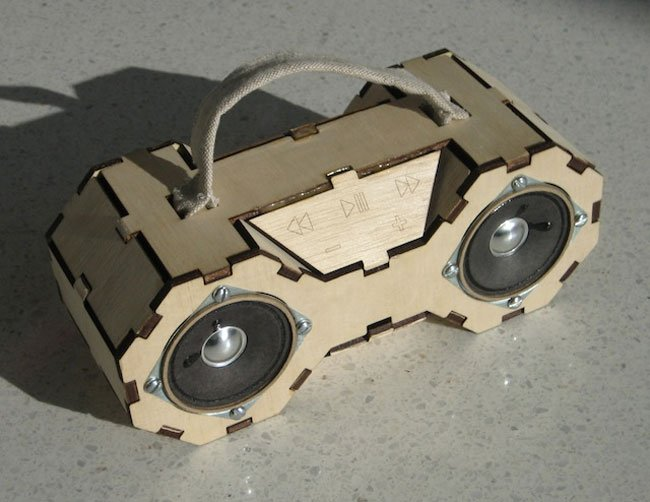 Plywood SD Card Boombox