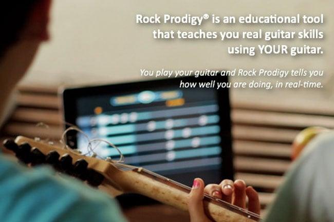 Rock Prodigy iPad App Rock Prodigy for iPad / iPhone : Be a real world Guitar Hero