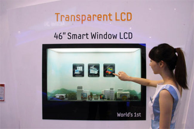Samsung's 46 Inch Transparent Window LCD Display Goes Into Production