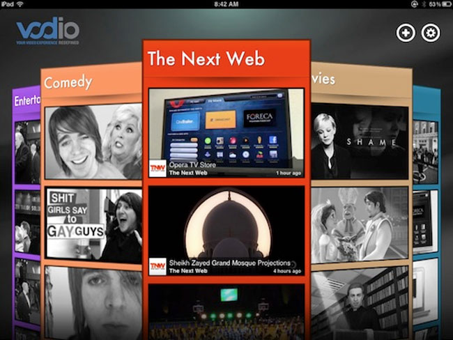 Vodio iPad App Is Like Flipboard For Videos