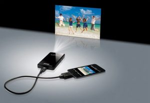 WOWee MicroVision Pocket Pico Projector Provides 200 Inch Display