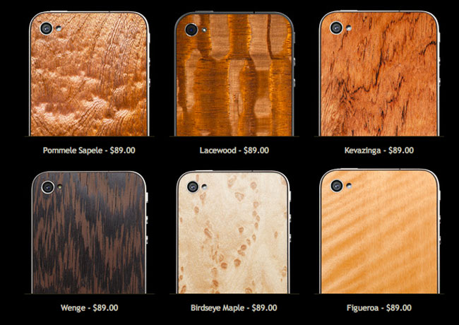 Wooden iPhone back panels
