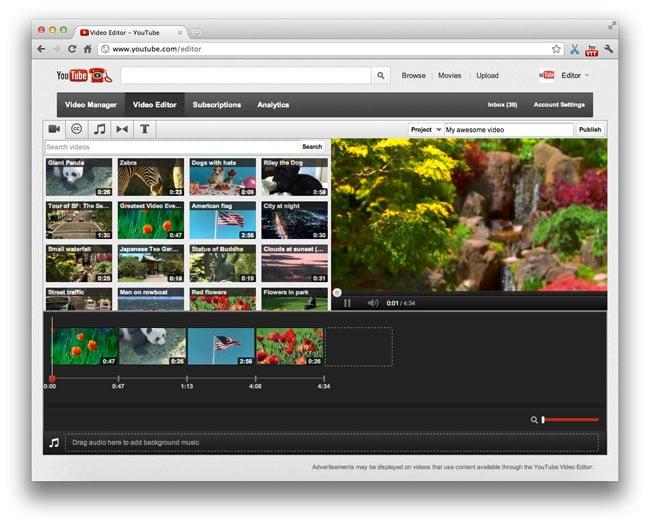 YouTube New Video Editor