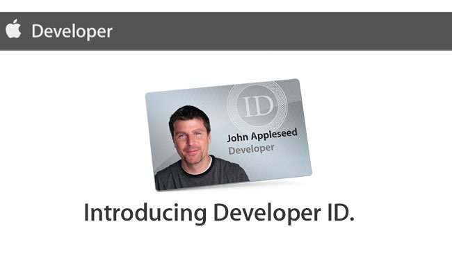 apple developer certificate launching scheme software