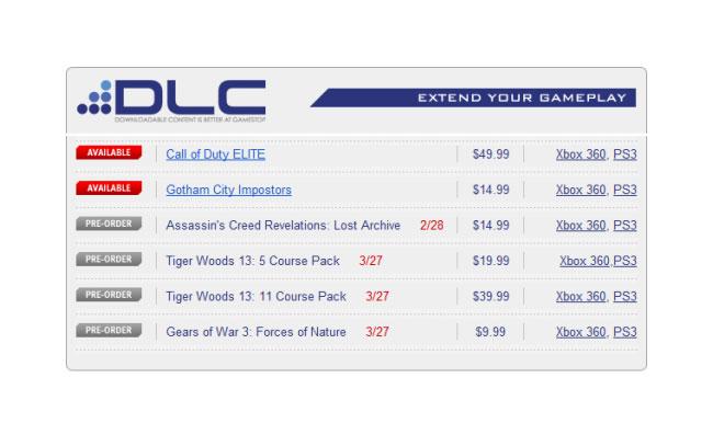 Assassins Creed DLC