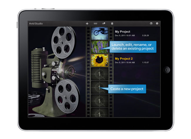 Avid Video iPad App