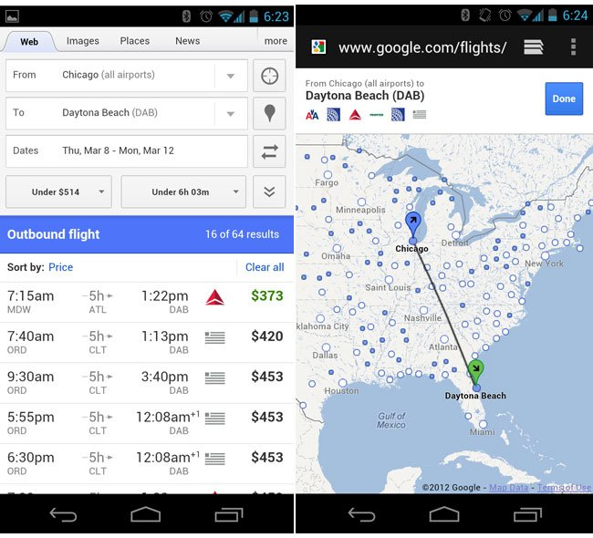 google flight search update rolls out for ios and android