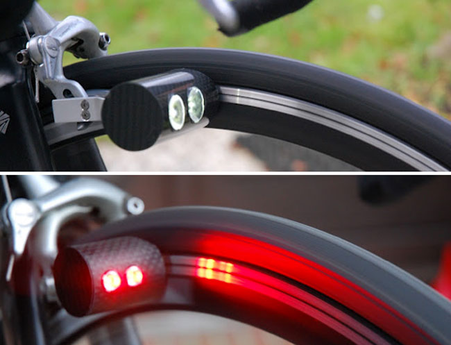Magnic Bike Lights Create Energy Using Magnet Powered Dynamos Video