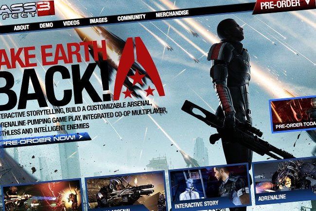 Mass Effect 3 Website
