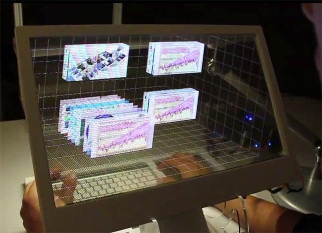 Microsoft transparent 3D PC