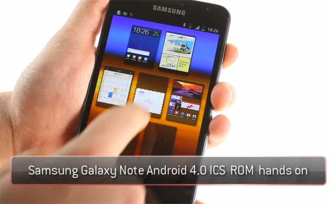 Samsung Glaxy Note ICS ROM