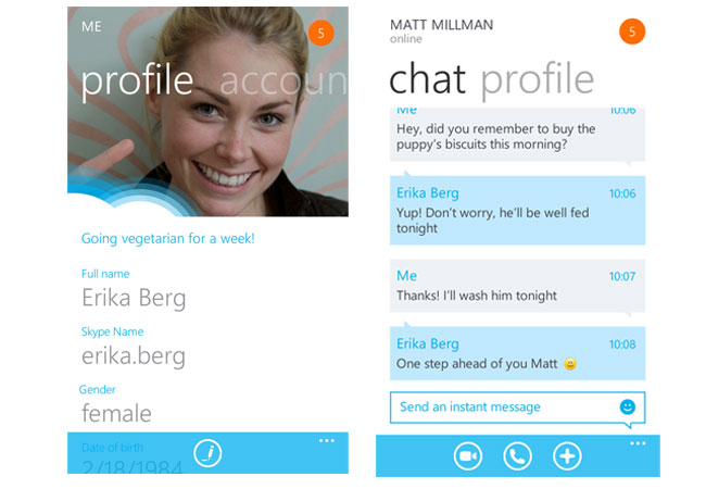 Skype Beta Windows Phone