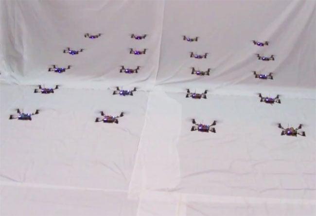 Swarm of Nano Quadcopters