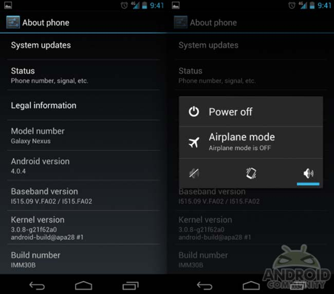Android 4.0.4 Galaxy Nexus