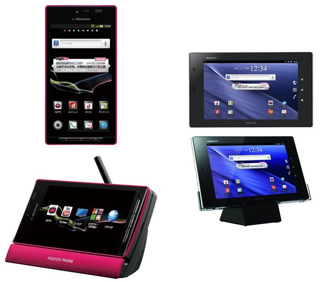 DoCoMo smartphone and tablet