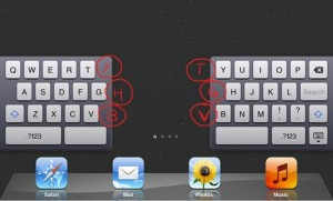 iPad Split Keyboard Hidden Keys