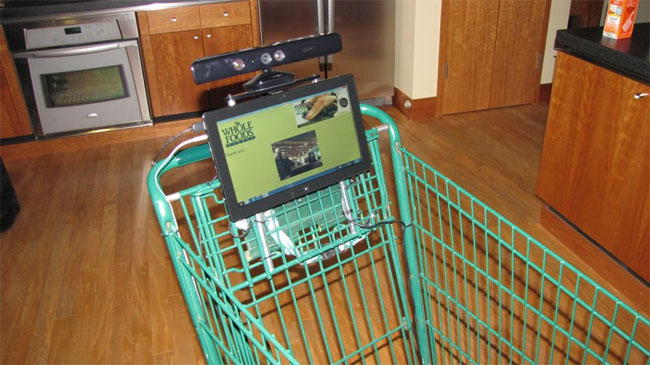 Kinect for Windows shopping cart