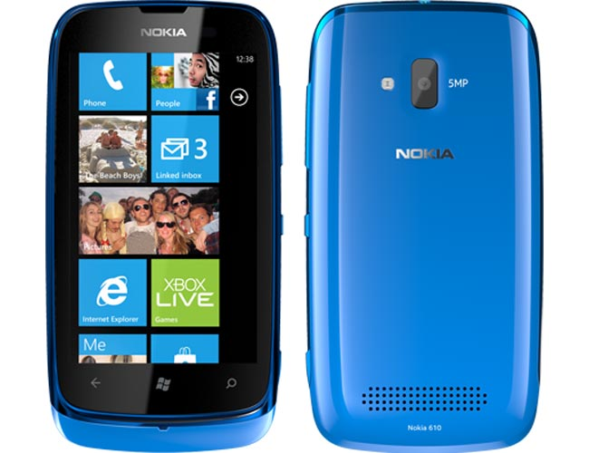 Other specifications on the Nokia Lumia 610 include a single core