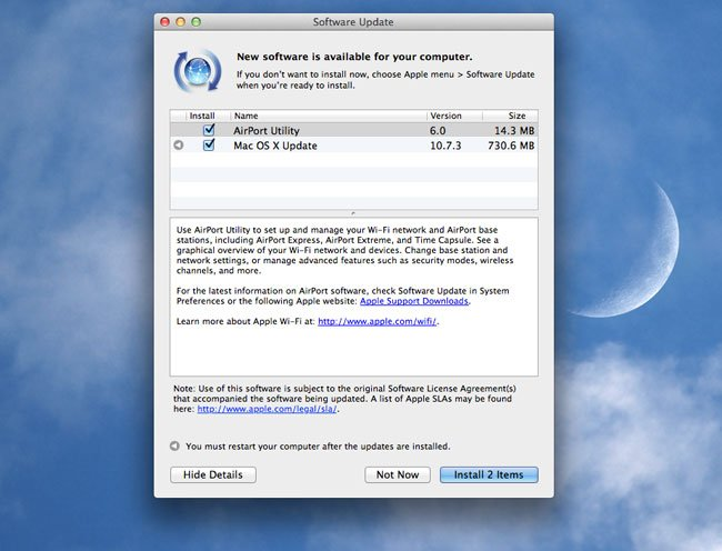 Apple Releases OS X Lion 10.7.3 Update