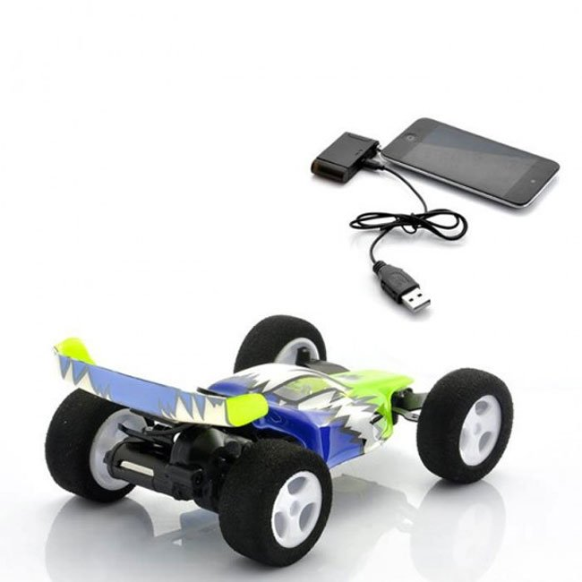 iPhone controlled stunt car