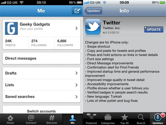 Twitter For iOS And Android Gets Updated