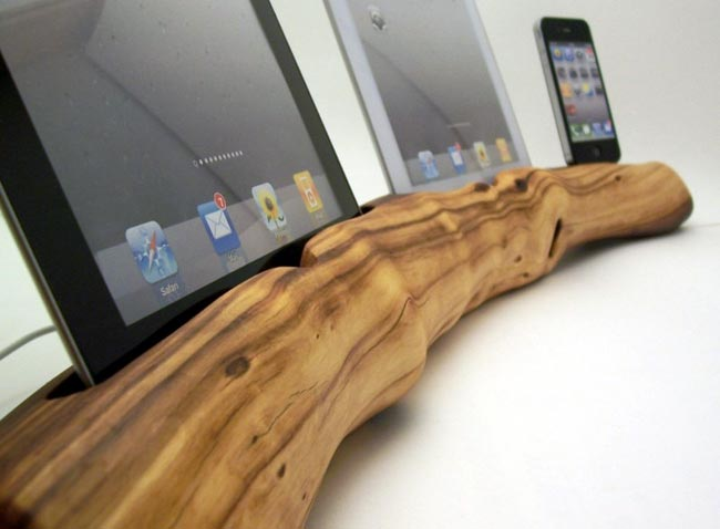 how to make a wood docking station